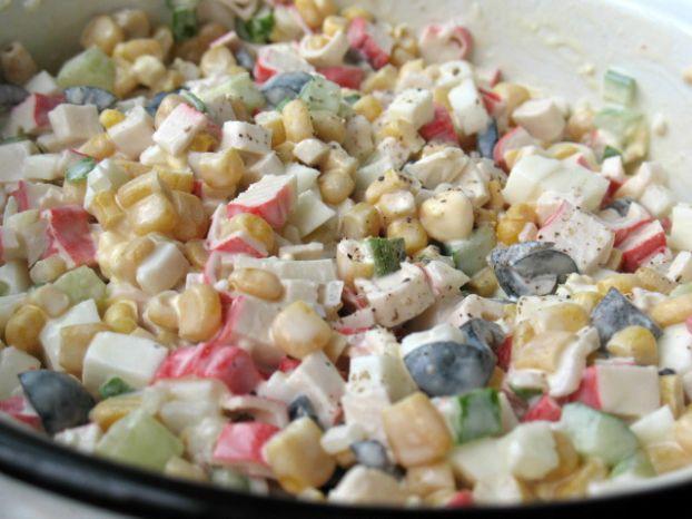 как делать крабовый салат рецепт с фото