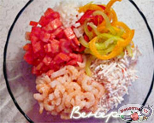 простой вкусный салат с креветками рецепт